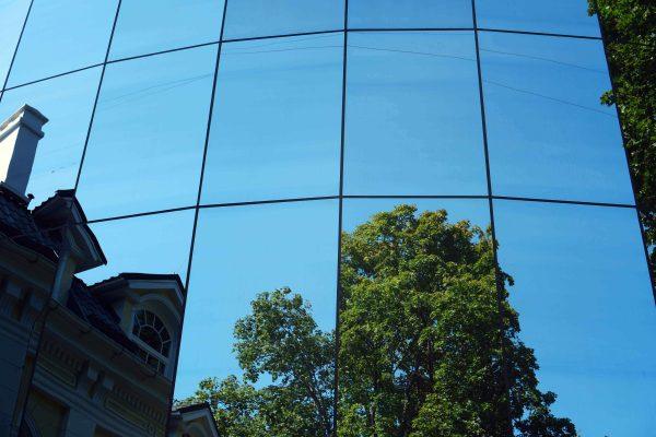 Mirror privacy film